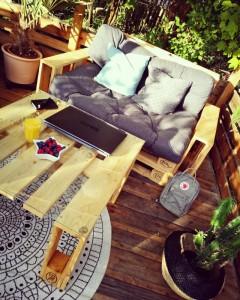 Terrasse selber bauen-Palettenmöbel (4)