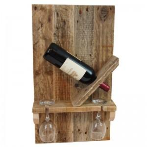 Weinregal aus Paletten-Regal aus Europaletten (2)