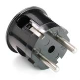 Schuko-Stecker aus Duroplast - Winkelstecker, schwarz