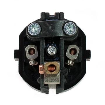 Schuko-Stecker aus Duroplast - Winkelstecker, schwarz-2