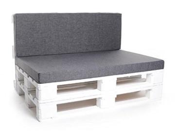 Set mit Ecklehnen - Palettenauflage - Sitzkissen - Set frei wählbar - grau-2