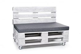 Set mit Ecklehnen - Palettenauflage - Sitzkissen - Set frei wählbar - grau