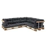 Set Palettenkissen - Sitzpolster + Rückenkissen für Palettenmöbel