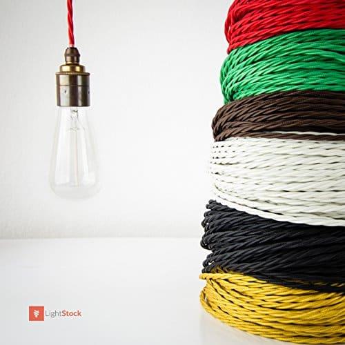 textilkabel f r lampen dreiadrig 3x0 75mm gro e. Black Bedroom Furniture Sets. Home Design Ideas
