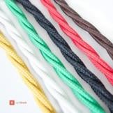 Textilkabel für Lampen - verseilt - dreiadrig 3x0,75mm² - rot-3