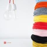 Textilkabel für Vintage Lampe- grau- zweiadrig