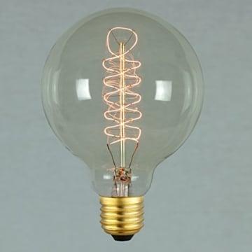 Vintage Glühbirne - 60W - Retro - Industriell Stil Deko Glühbirne Globe 95mm