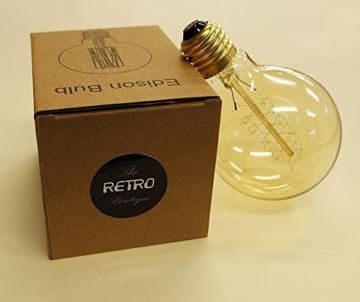 Vintage Glühbirne - 60W - Retro - Industriell Stil Deko Glühbirne Globe 95mm-5