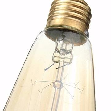 Vintage Glühbirne - E27 - 60W Edison Lampe - Squirrel Cage Retro Antike Beleuchtung 220V-3