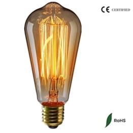 Vintage Glühbirne - E27 - 60W Edison Lampe - Squirrel Cage Retro Antike Beleuchtung 220V