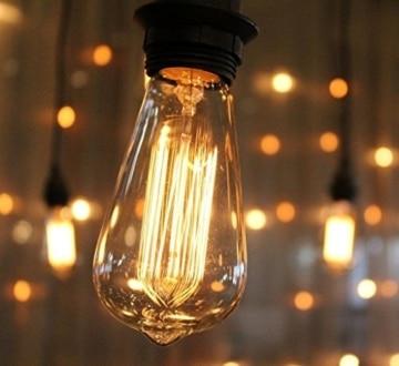 Vintage Glühbirne - E27 - 60W Edison Lampe - Squirrel Cage Retro Antike Beleuchtung 220V-5