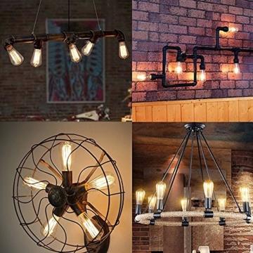 Vintage Glühbirne - E27 - 60W Edison Lampe - Squirrel Cage Retro Antike Beleuchtung 220V-6