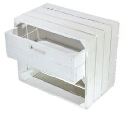 weiße-Kiste-mit-schublade-holzkiste